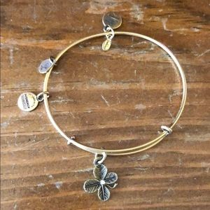 Alex and Ani: Four Leaf Clover bracelet in gold